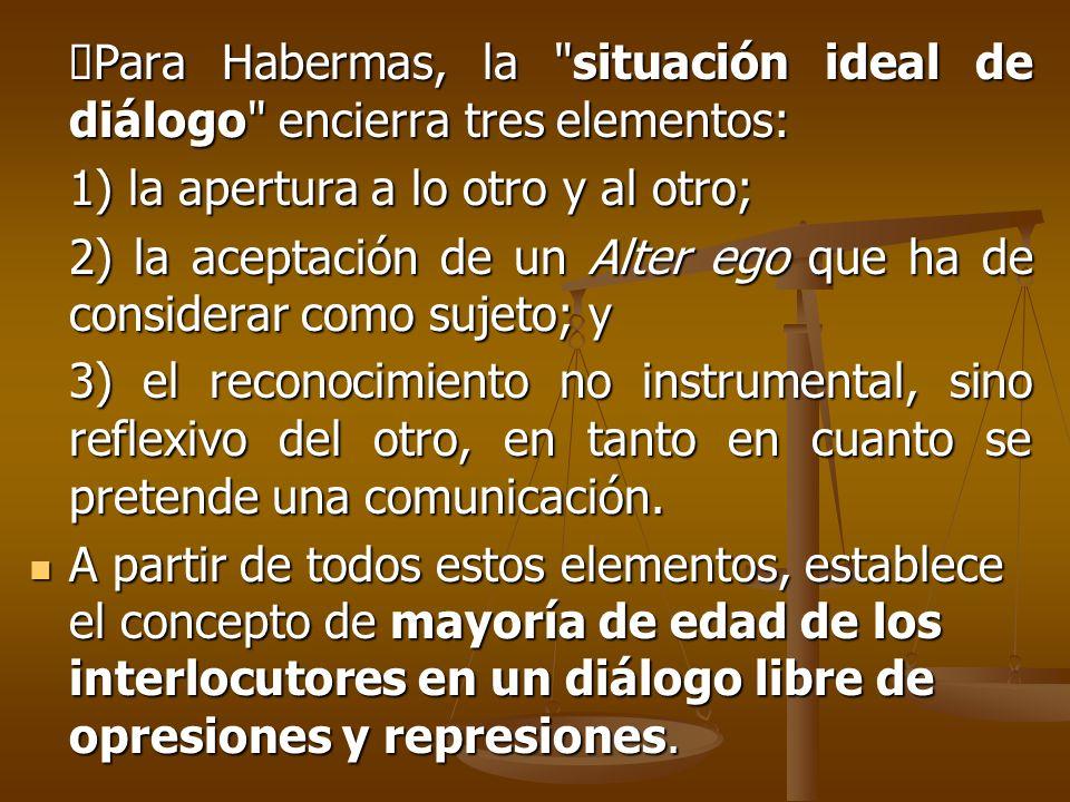 Para Habermas, la