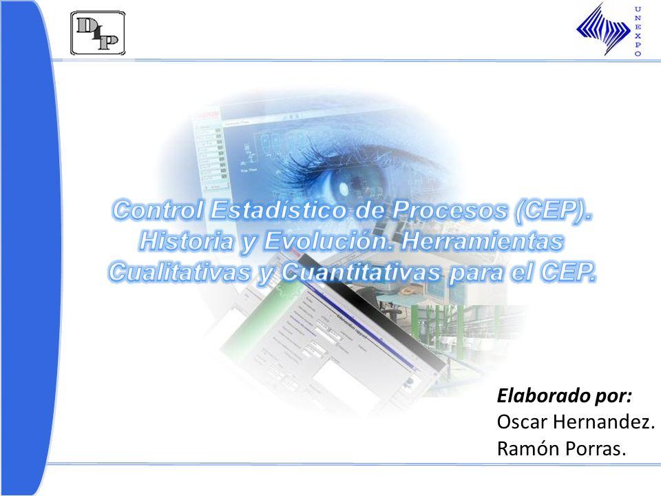 1.Control Estadístico de Procesos (CEP) – Historia y evolución.