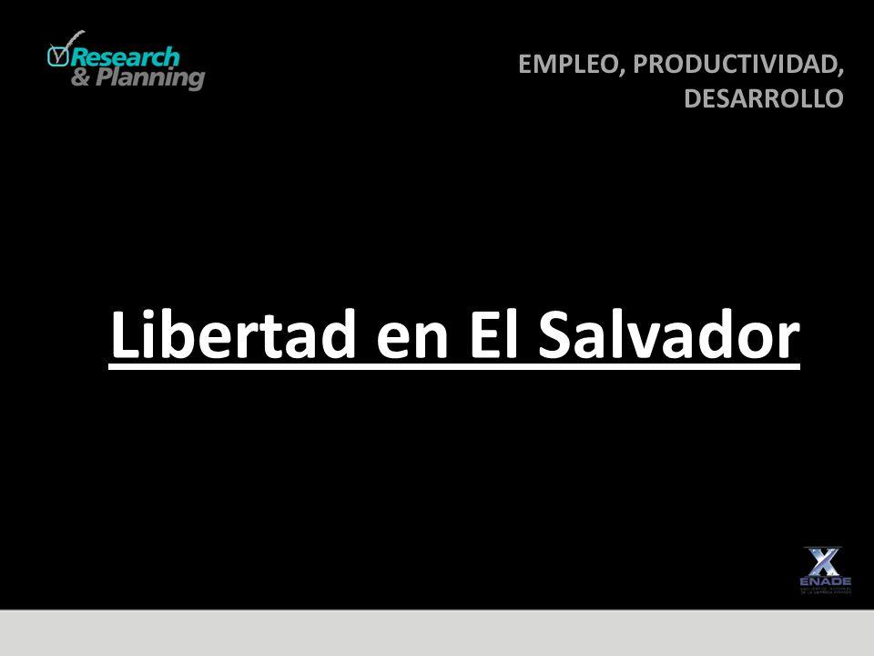 EMPLEO, PRODUCTIVIDAD, DESARROLLO DESARROLLO Libertad en El Salvador
