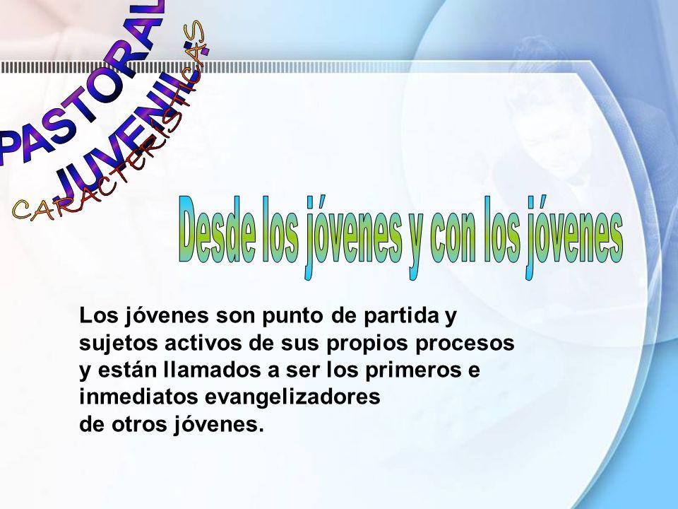 Los jóvenes son punto de partida y sujetos activos de sus propios procesos y están llamados a ser los primeros e inmediatos evangelizadores de otros j