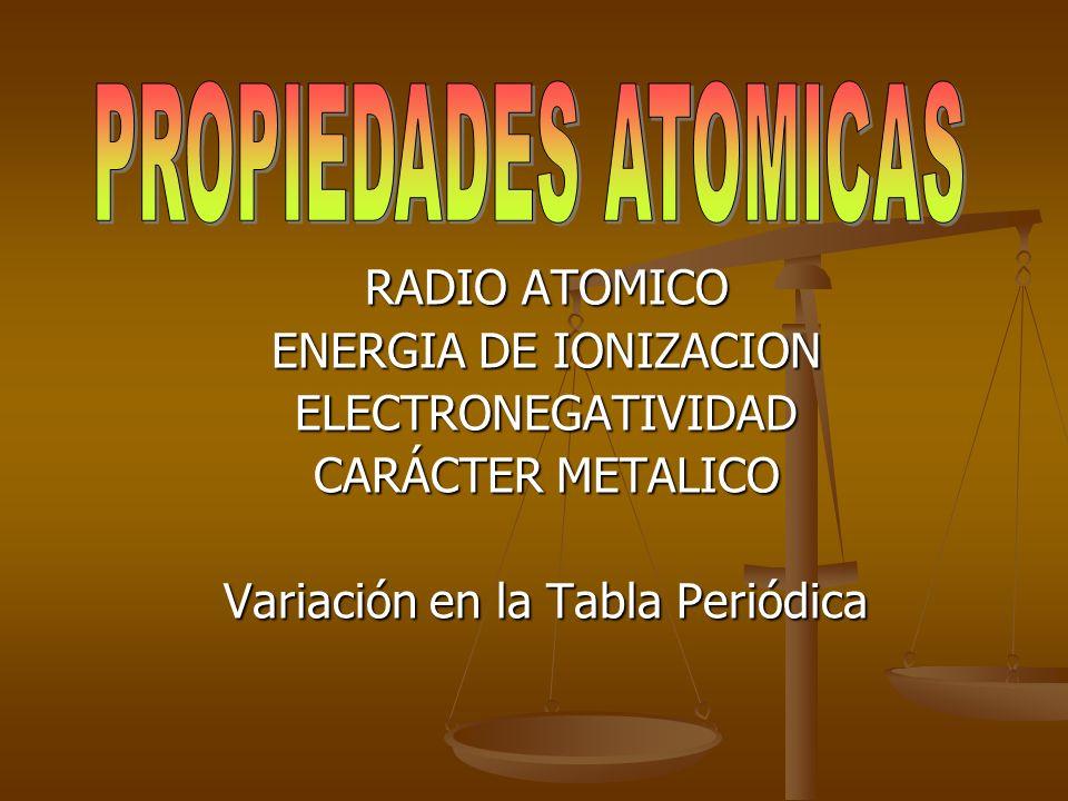Otra clasificación: metales, no metales y metaloides.