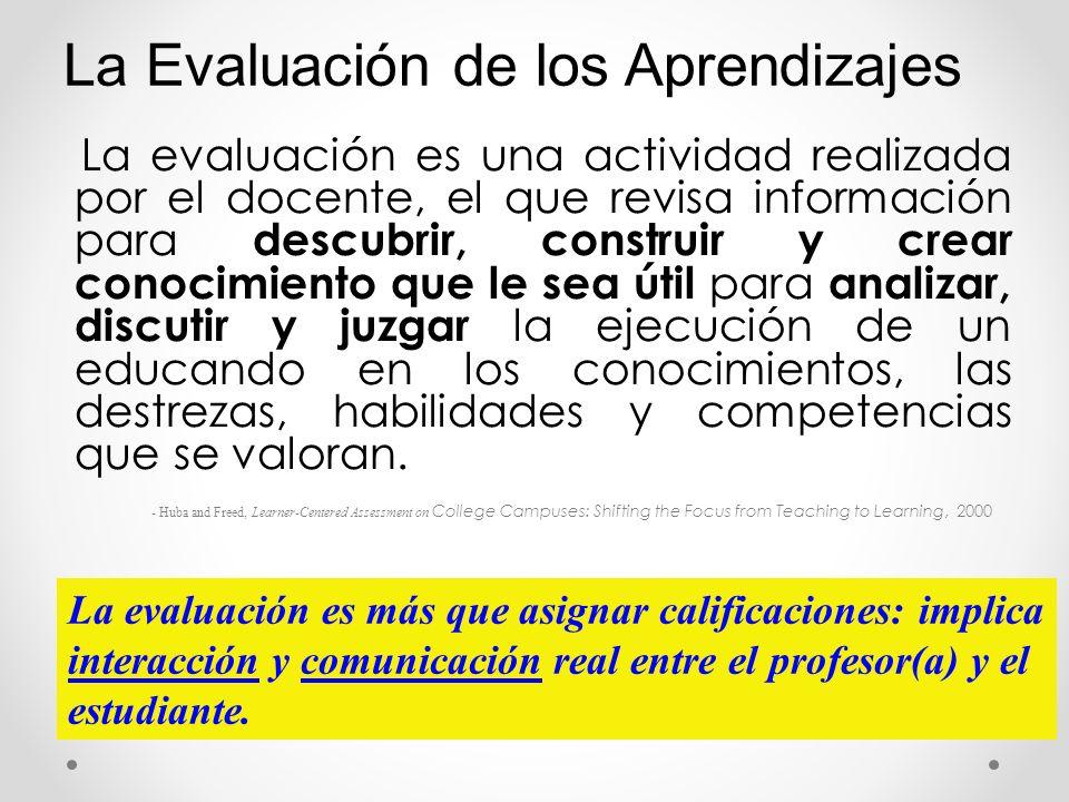 La evaluación es una actividad realizada por el docente, el que revisa información para descubrir, construir y crear conocimiento que le sea útil para