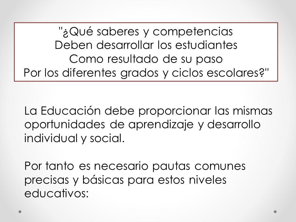 ¿Cuáles son los aprendizajes que debe ofrecer la escuela.