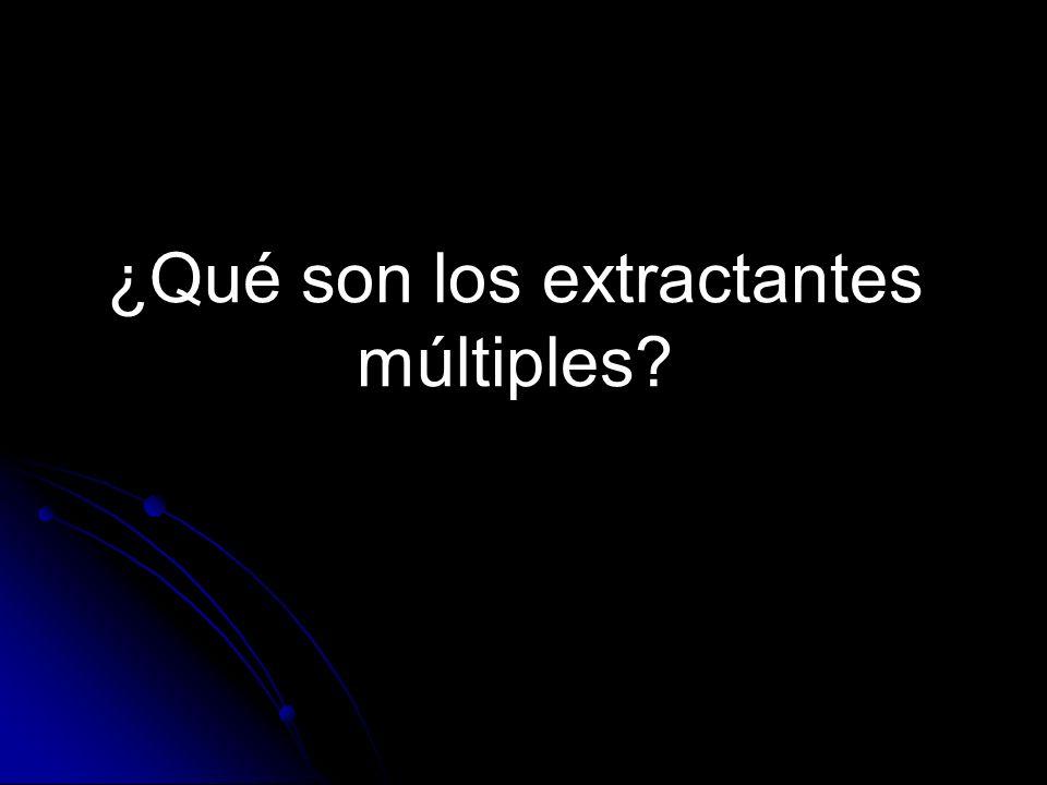 ¿Qué son los extractantes múltiples?