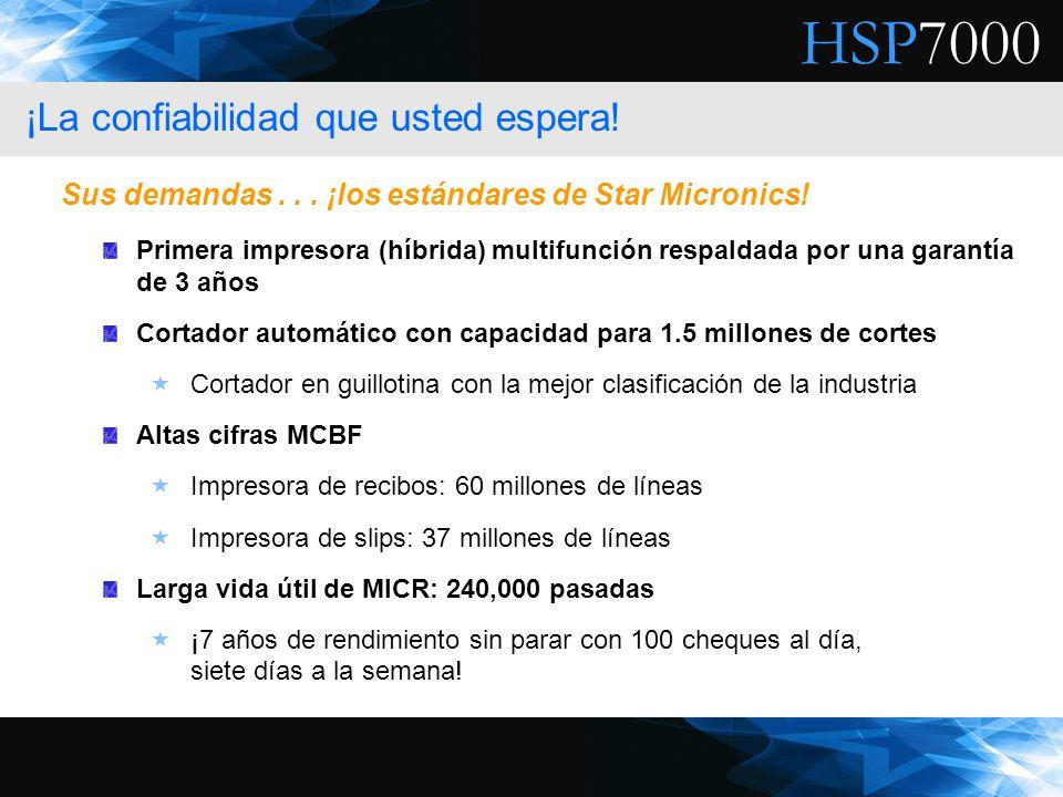 HSP7000 Primera impresora (híbrida) multifunción respaldada por una garantía de 3 años Cortador automático con capacidad para 1.5 millones de cortes C