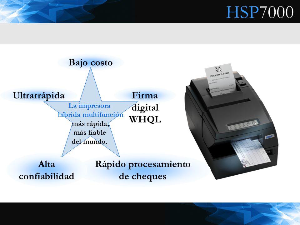 HSP7000 Bajo costo Ultrarrápida Rápido procesamiento de cheques Firma digital WHQL Alta confiabilidad La impresora híbrida multifunción más rápida, má