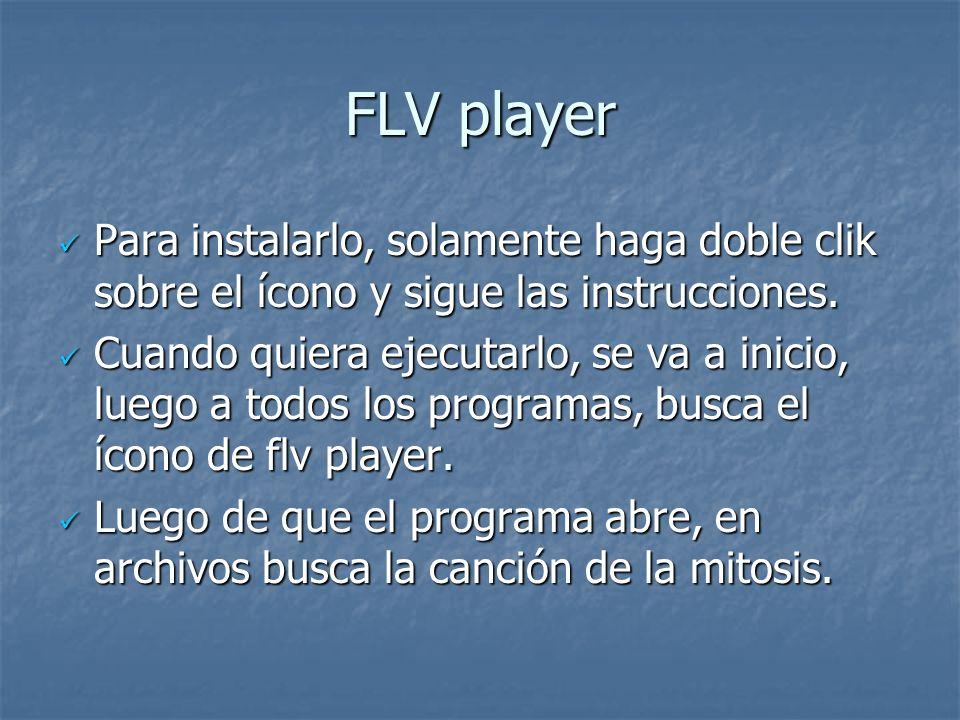 FLV player Para instalarlo, solamente haga doble clik sobre el ícono y sigue las instrucciones. Para instalarlo, solamente haga doble clik sobre el íc