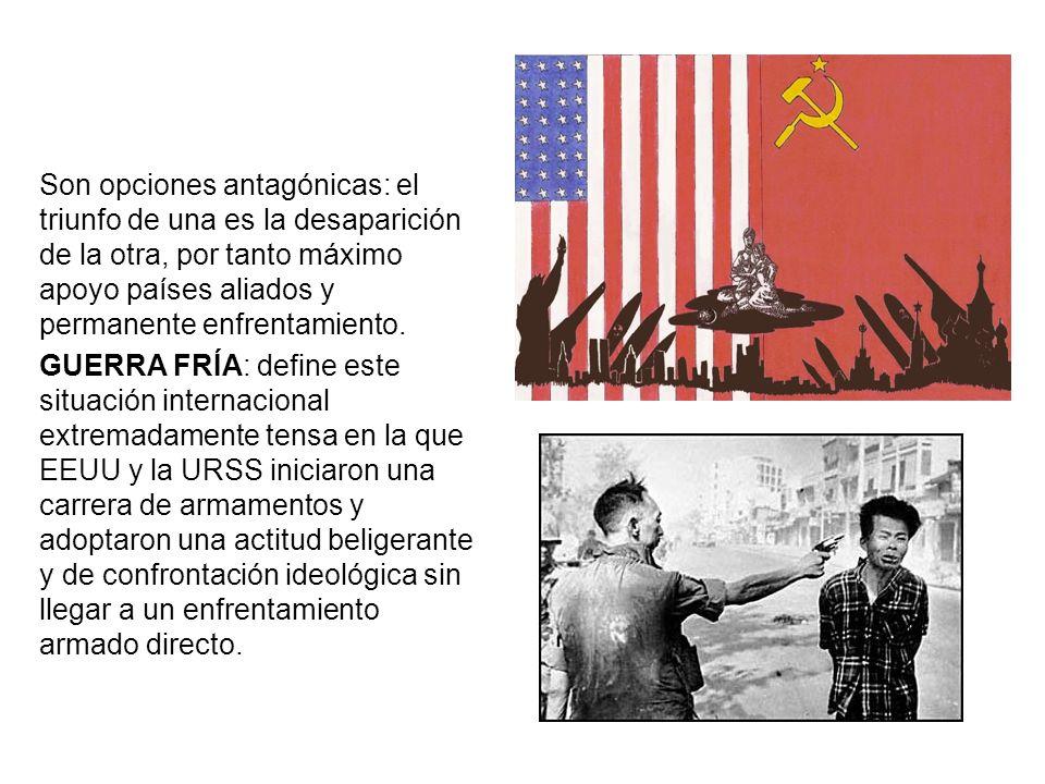 3.- COEXISTENCIA PACÍFICA (1960-1970) 3.1.CAUSAS URSS: muerte de Stalin (1953).