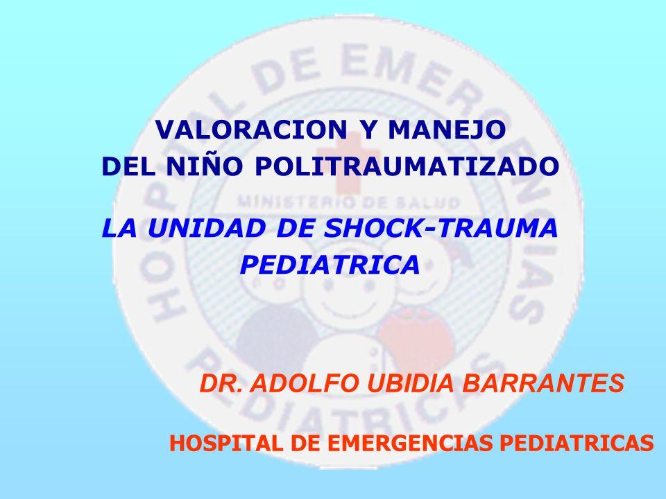 VALORACION Y MANEJO DEL NIÑO POLITRAUMATIZADO LA UNIDAD DE SHOCK-TRAUMA PEDIATRICA DR.