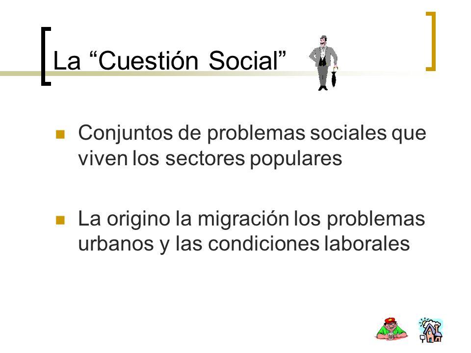 Conjuntos de problemas sociales que viven los sectores populares La origino la migración los problemas urbanos y las condiciones laborales