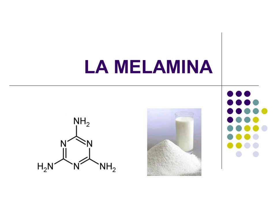 TOXICIDAD DE LA MELAMINA Dosis letal = 6g/kg de peso corporal.