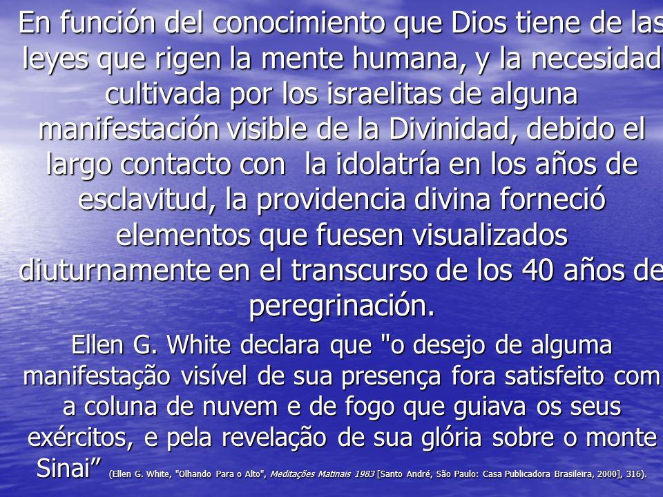 En función del conocimiento que Dios tiene de las leyes que rigen la mente humana, y la necesidad cultivada por los israelitas de alguna manifestación
