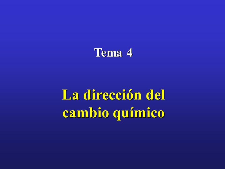 Tema 4 La dirección del cambio químico