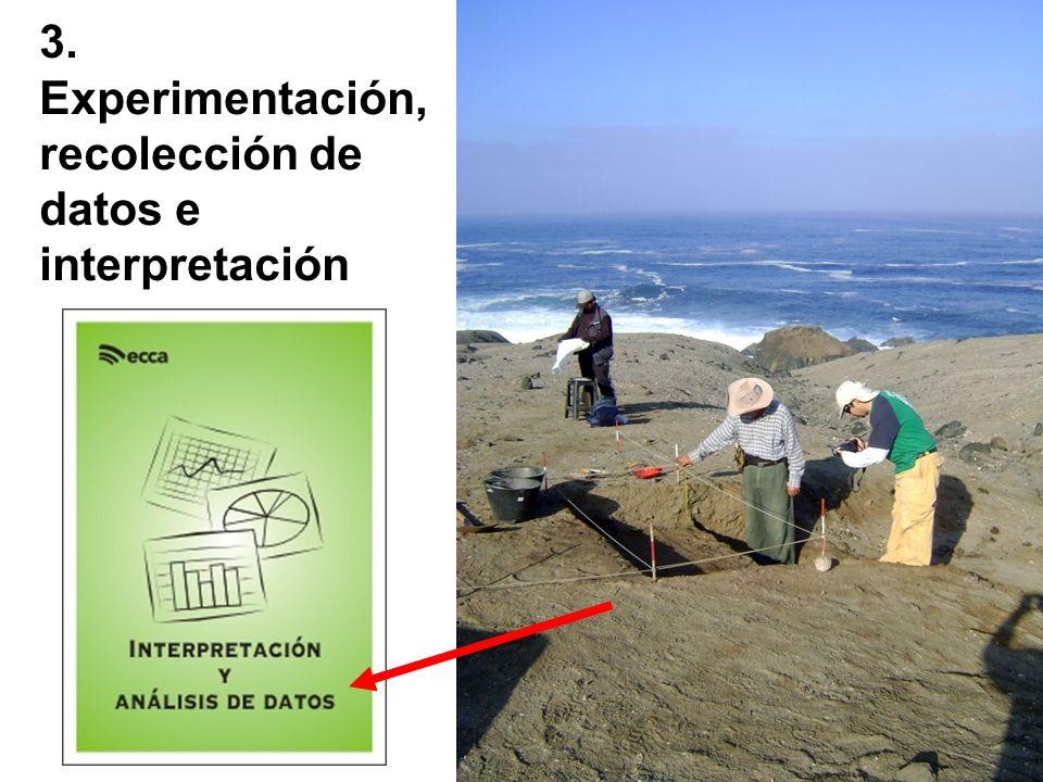 3. Experimentación, recolección de datos e interpretación