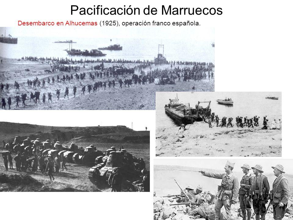 Pacificación de Marruecos Desembarco en Alhucemas (1925), operación franco española.