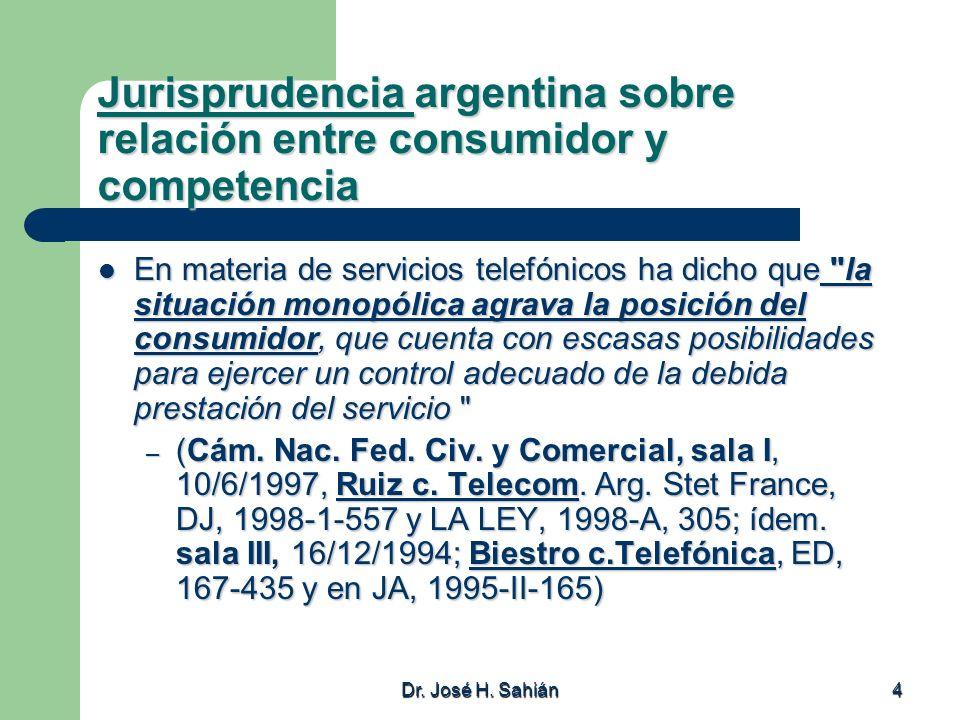 Dr.José H. Sahián 35 Concentraciones económicas La enumeración del art.