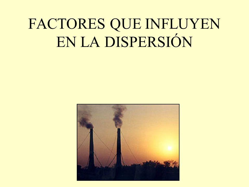 FACTORES QUE INFLUYEN EN LA DISPERSIÓN