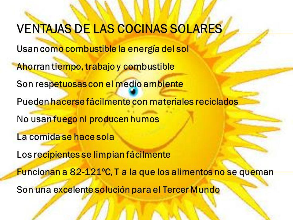 TIPOS DE COCINAS SOLARES Cocinas tipo caja Cocinas parabólicas Cocina tipo panel