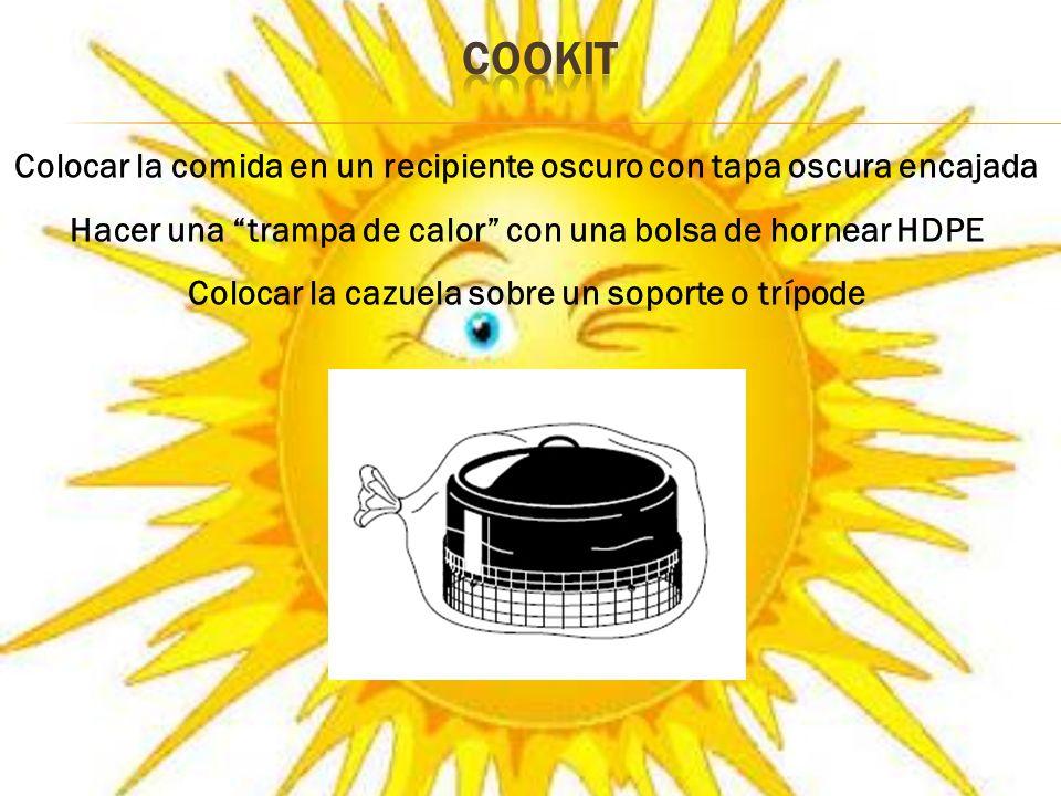 Orientar la cocina al sol Subir o bajar el reflector frontal, dirigiendo los rayos hacia la cazuela Esperar el tiempo necesario