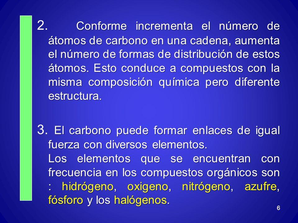 17.Escriba la fórmula estructural y estructural condensada de los siguientes compuestos: 2.