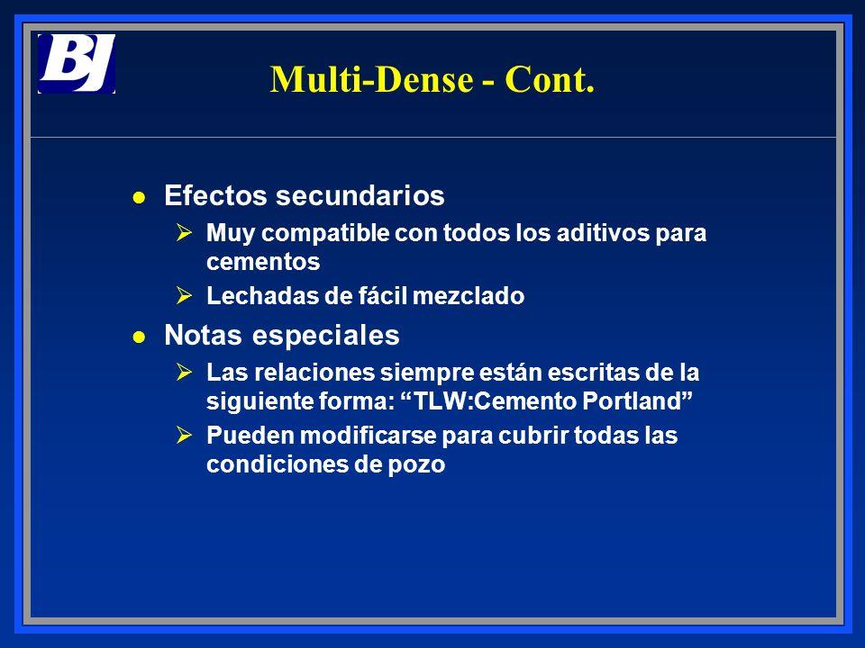 l Efectos secundarios ØMuy compatible con todos los aditivos para cementos ØLechadas de fácil mezclado l Notas especiales ØLas relaciones siempre está