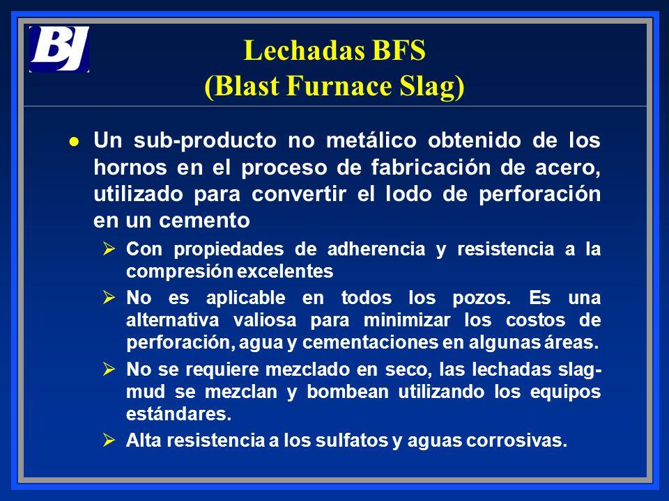 Lechadas BFS (Blast Furnace Slag) l Un sub-producto no metálico obtenido de los hornos en el proceso de fabricación de acero, utilizado para convertir