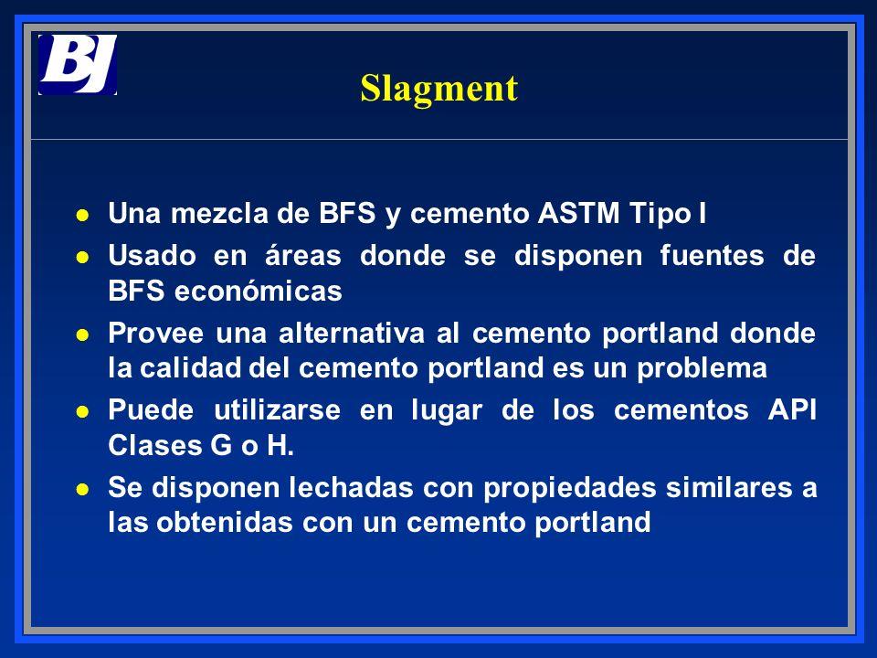 Slagment l Una mezcla de BFS y cemento ASTM Tipo I l Usado en áreas donde se disponen fuentes de BFS económicas l Provee una alternativa al cemento po