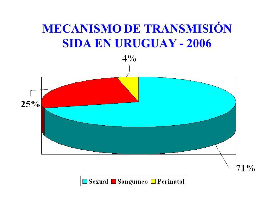 MECANISMO DE TRANSMISIÓN SIDA EN URUGUAY - 2006