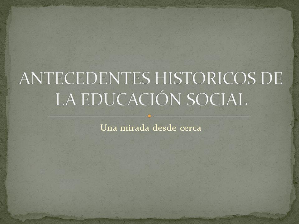 La educación social como forma pedagógica del trabajo social, atendiendo, por la educación a problemas de marginación o carencias vitales o sociales a que se hallan sujetos bastantes individuos y colectivos.