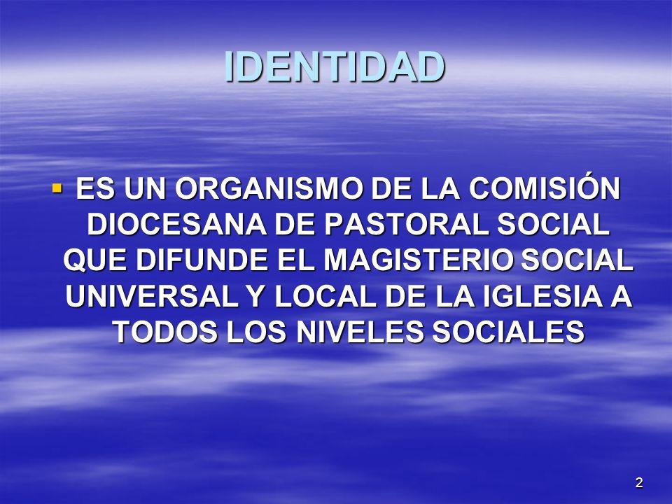 1 SECCION DE LA DOCTRINA SOCIAL DE LA IGLESIA ERIGIDA 1997 (2001)