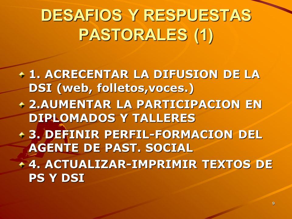8 SERVICIOS (2) 5. PROGRAMA COMPROMISO POLÍTICO DEL CRISTIANO 6. DIFUSION DE LA DSI: PUBLICACIONES, BOLETIN CONCIENCIA, ARTICULOS, TRIPTICOS, Radio 7.