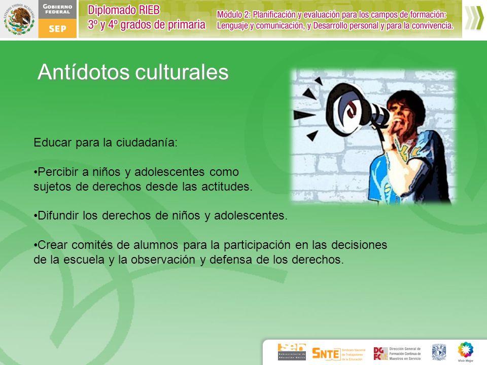 Educar para la ciudadanía: Percibir a niños y adolescentes como sujetos de derechos desde las actitudes. Difundir los derechos de niños y adolescentes