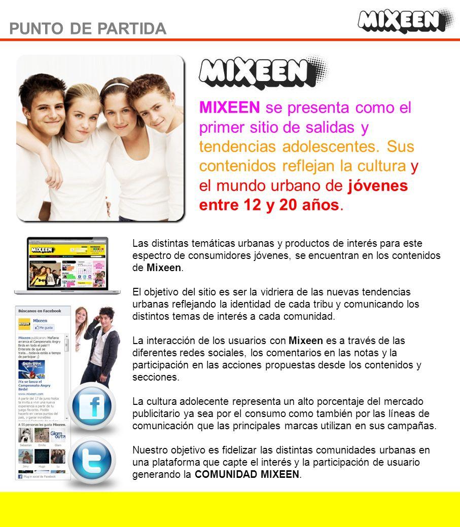 PUNTO DE PARTIDA MIXEEN se presenta como el primer sitio de salidas y tendencias adolescentes.