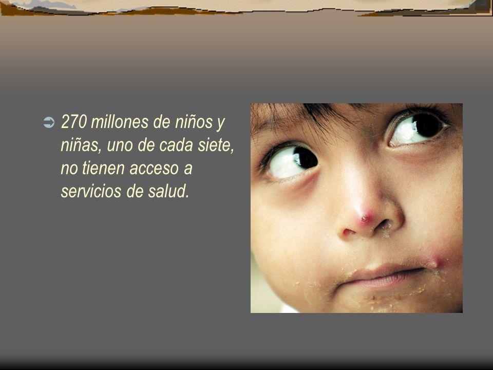 270 millones de niños y niñas, uno de cada siete, no tienen acceso a servicios de salud.