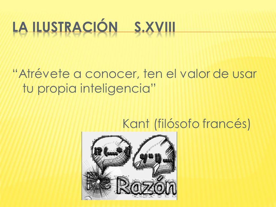 Atrévete a conocer, ten el valor de usar tu propia inteligencia Kant (filósofo francés)