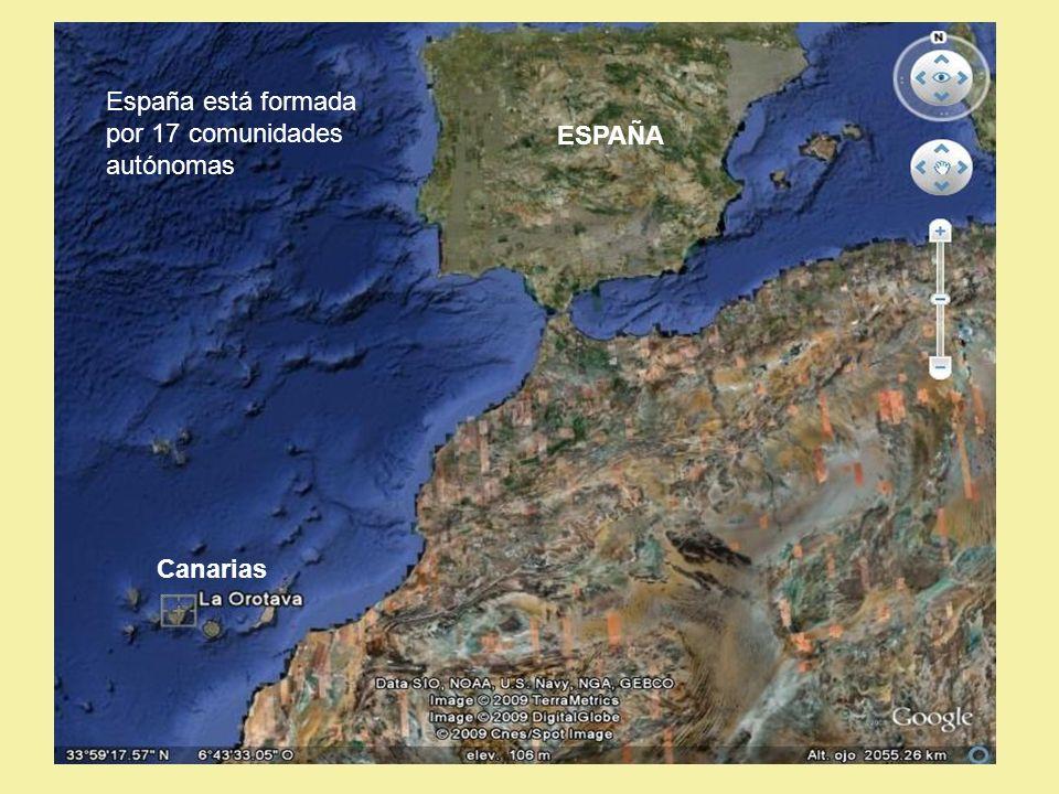 España está formada por 17 comunidades autónomas Canarias ESPAÑA