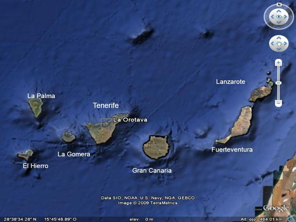 La Palma El Hierro La Gomera Tenerife Gran Canaria Fuerteventura Lanzarote