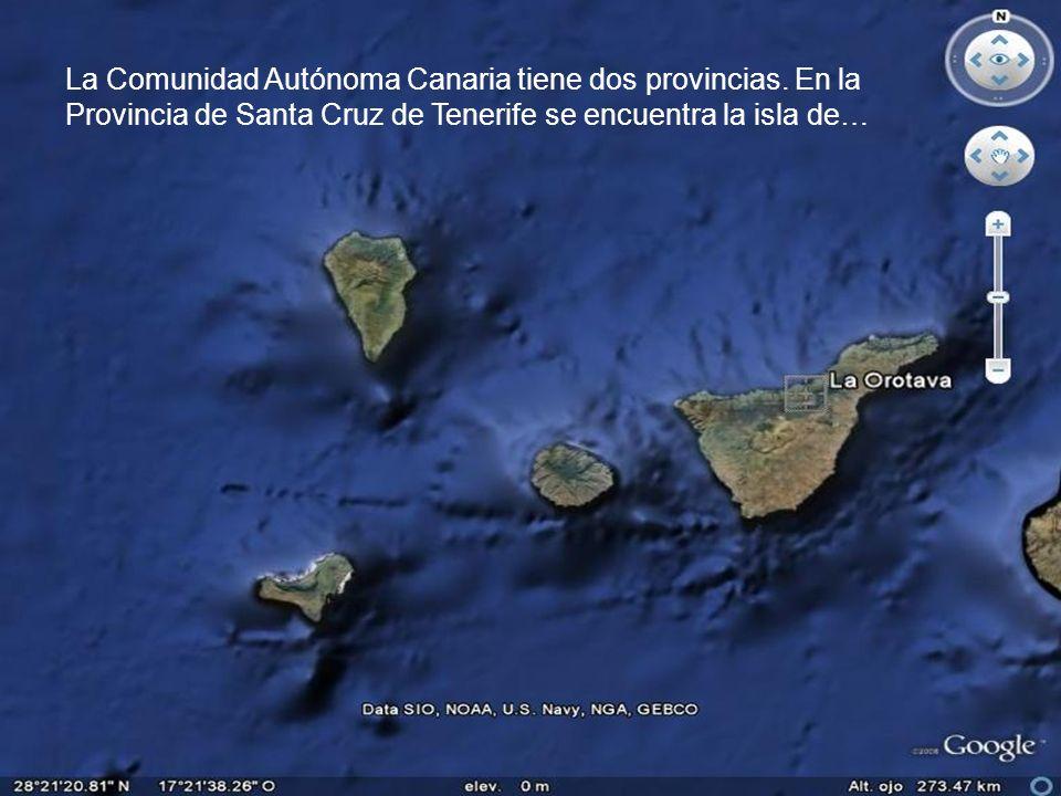 La Comunidad Autónoma Canaria tiene dos provincias.