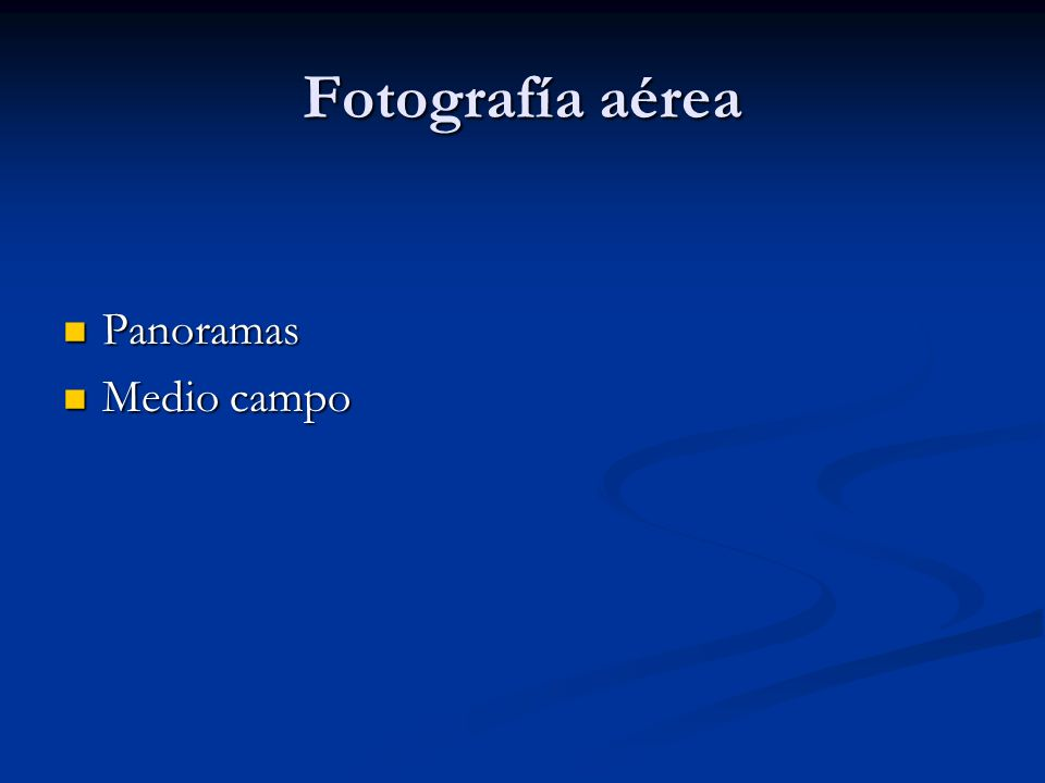 Fotografía aérea Panoramas Panoramas Medio campo Medio campo