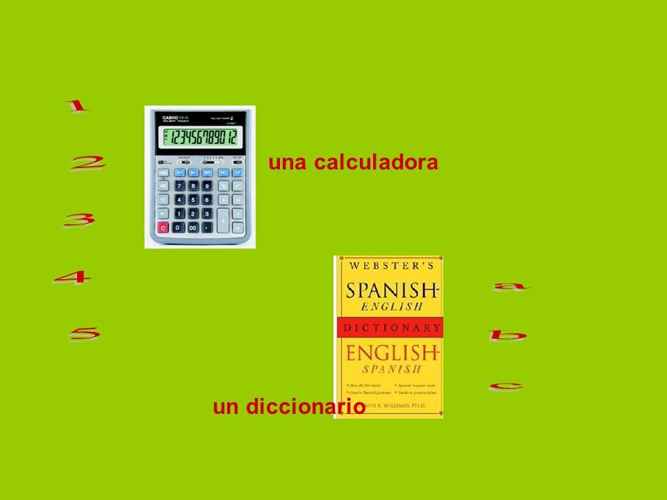 una calculadora un diccionario