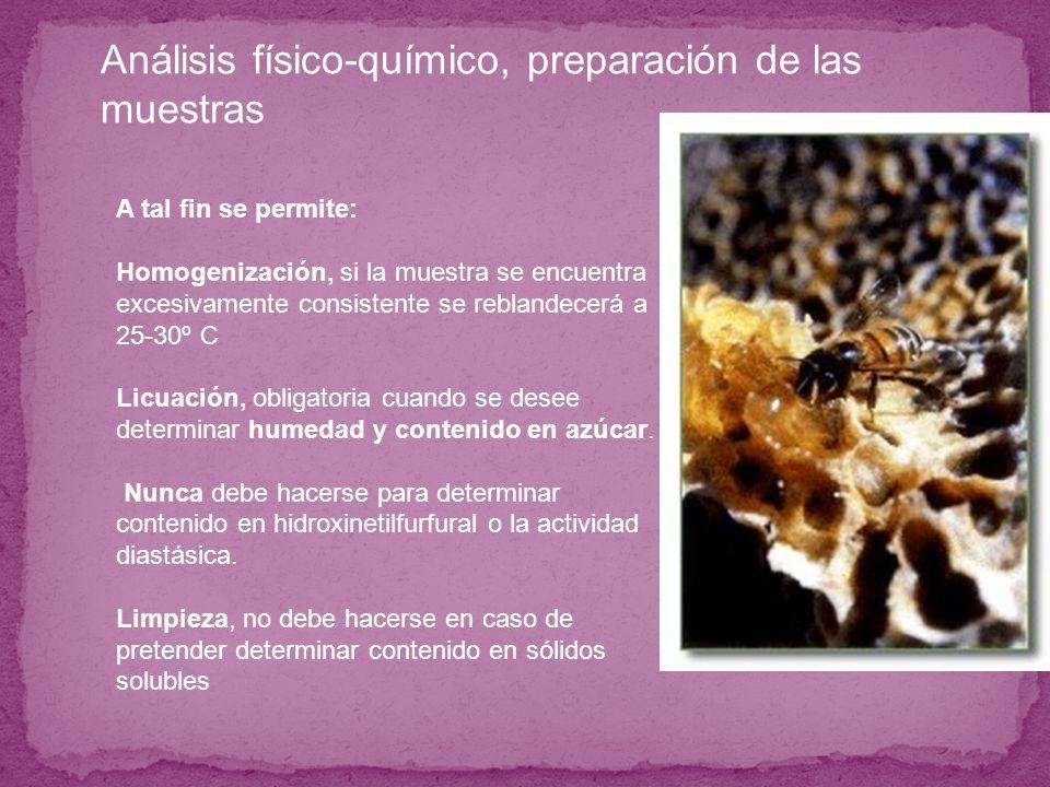 Análisis físico-químico, que parámetros aporta: Cuantificando la concentración de Prolina, se determina : Envejecimiento del producto, También sirve para determinar la adición fraudulenta de jarabe de miel.