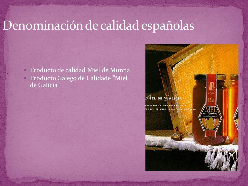 Producto de calidad Miel de Murcia Producto Galego de Calidade Miel de Galicia
