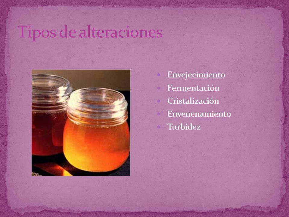 Envejecimiento Fermentación Cristalización Envenenamiento Turbidez