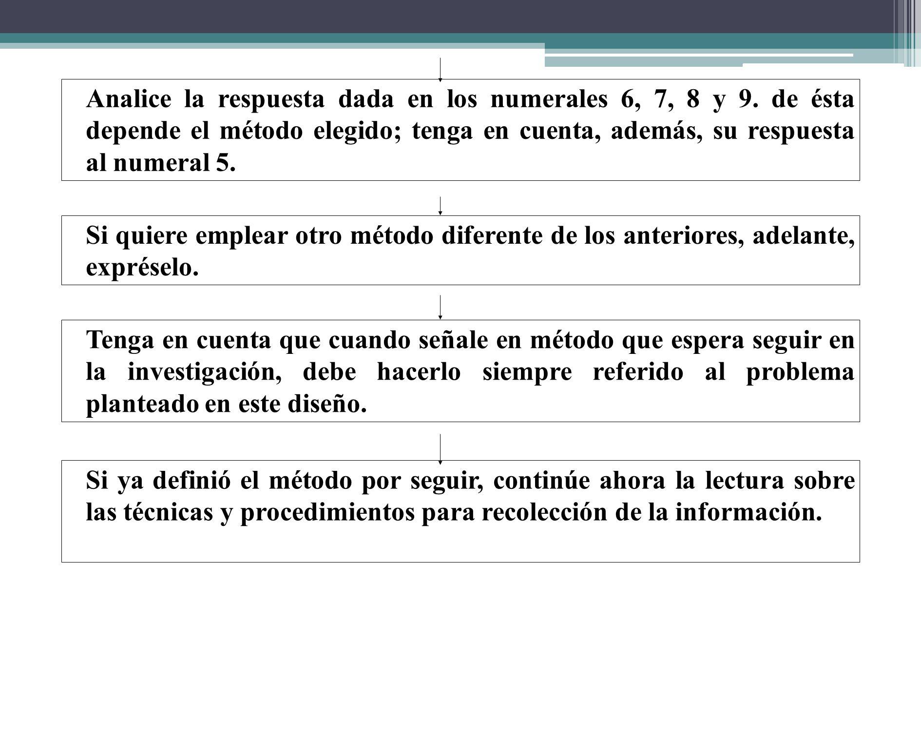 Si quiere explicar un fenómeno iniciando su estudio por las partes más específicas que lo identifican (los efectos) y a partir de éstas llegar a una e
