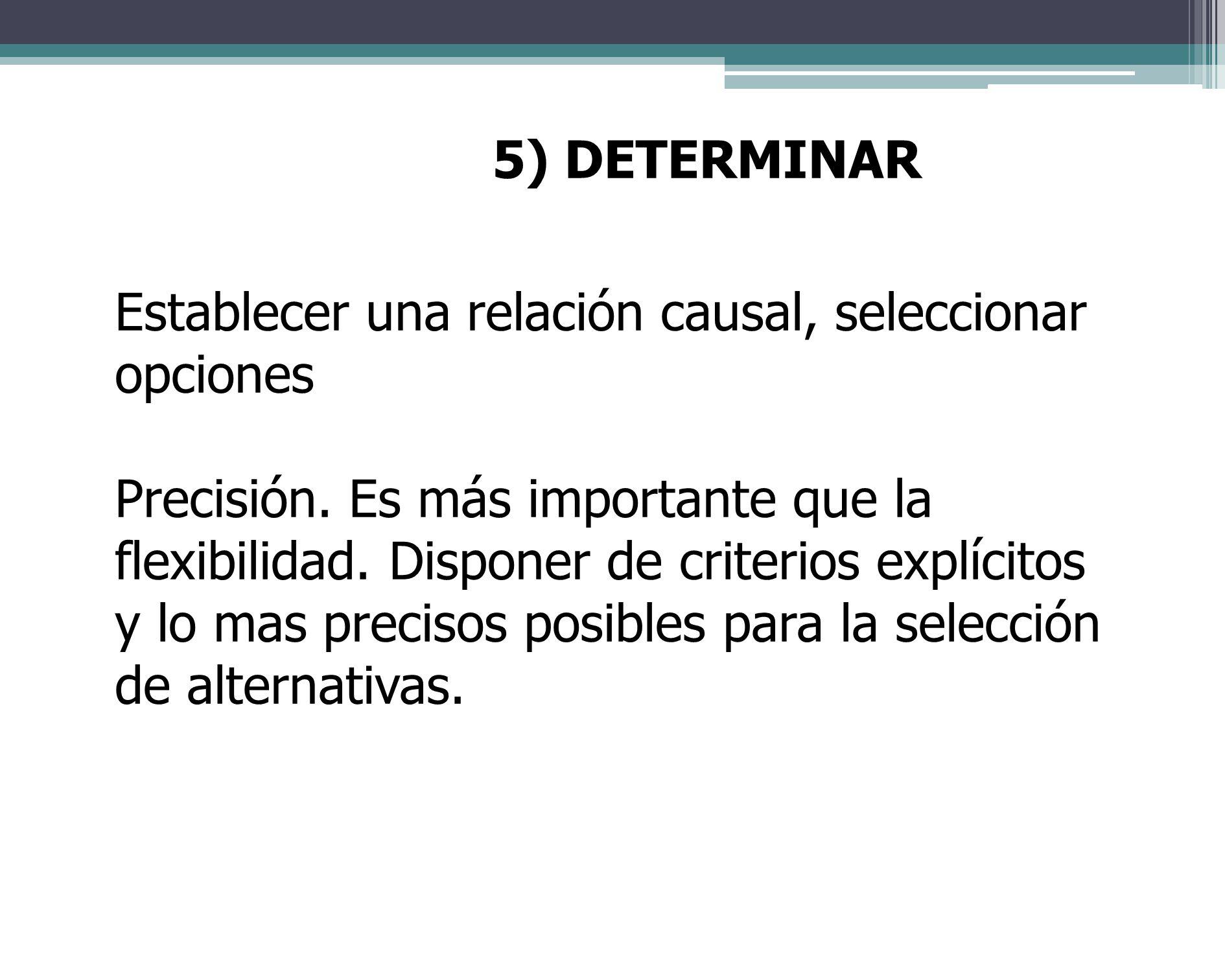 4) ANALIZAR Descomponer, diseccionar. Profundizar sobre lo conocido. Los criterios de selección o evaluación son resultado del trabajo de investigació