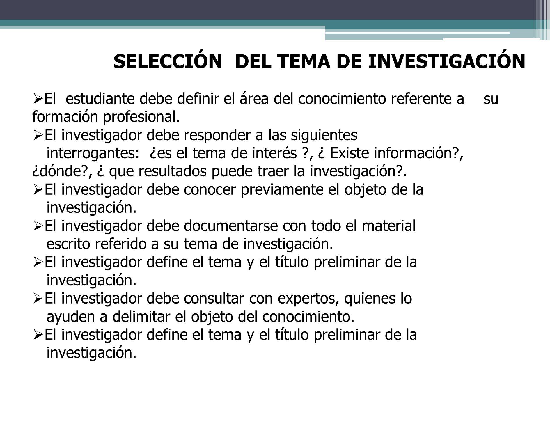 TRATAMIENTO DE LA INFORMACION El investigador debe definir la forma de presentación de los datos, representación escrita, semitabular, tabular, uso de gráficas, etc.