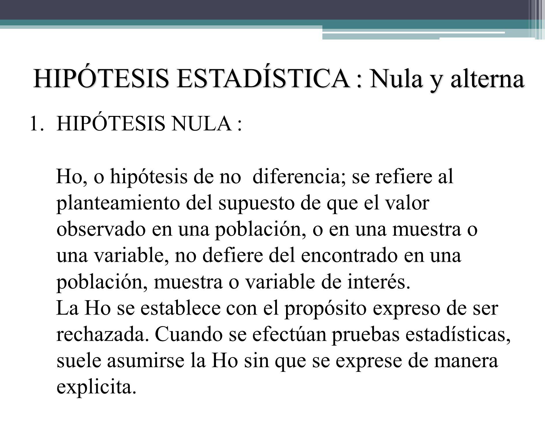 REQUISITOS DE LA HIPÓTESIS Para el proceso de análisis estadístico inferencial de los datos recolectados deben plantearse hipótesis estadísticas, esta