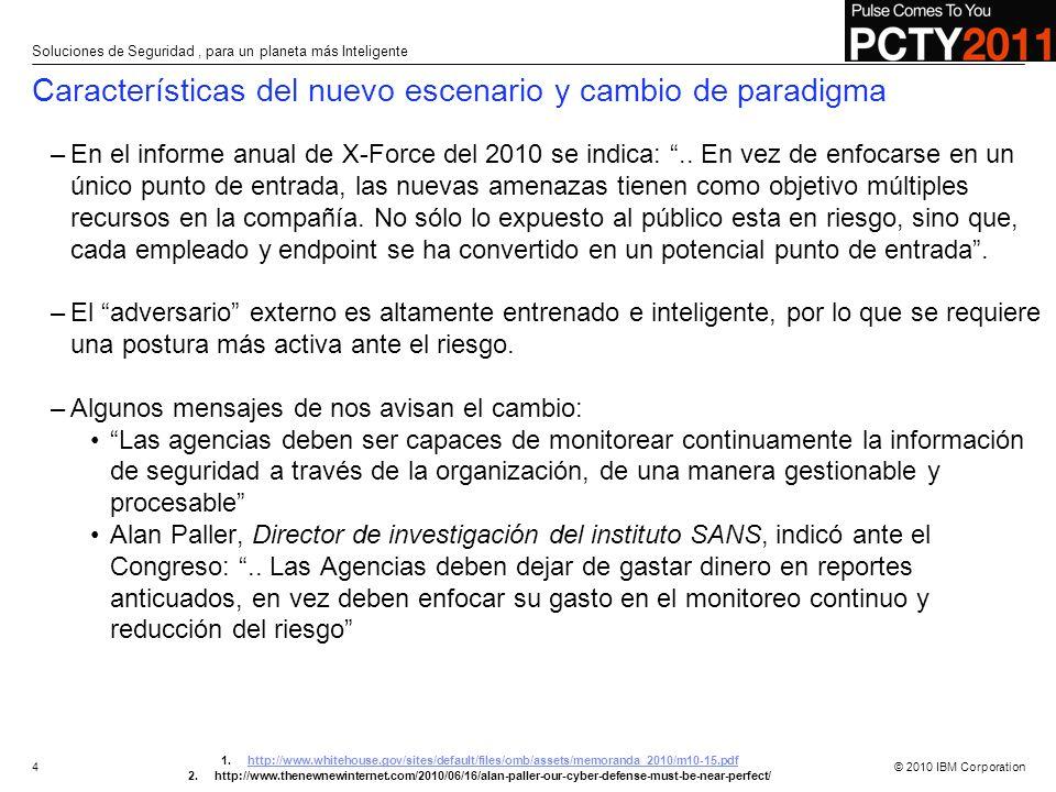 © 2010 IBM Corporation –En el informe anual de X-Force del 2010 se indica:.. En vez de enfocarse en un único punto de entrada, las nuevas amenazas tie