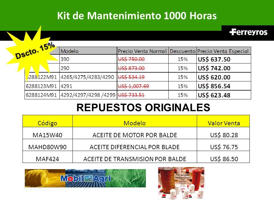 CódigoModelo Valor Venta MA15W40ACEITE DE MOTOR POR BALDE US$ 80.28 MAHD80W90ACEITE DIFERENCIAL POR BLADE US$ 76.75 MAF424ACEITE DE TRANSMISION POR BA