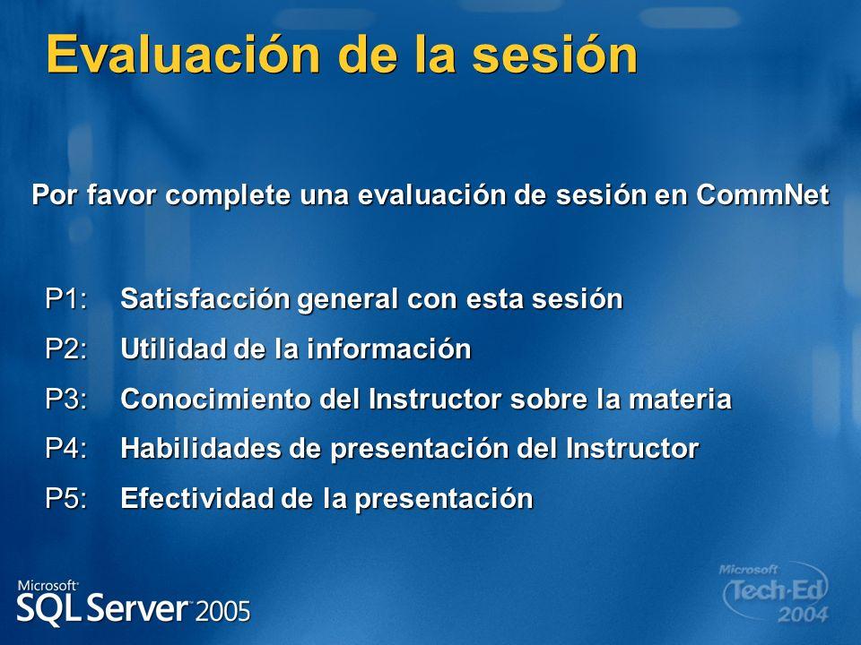 P1:Satisfacción general con esta sesión P2:Utilidad de la información P3:Conocimiento del Instructor sobre la materia P4:Habilidades de presentación d